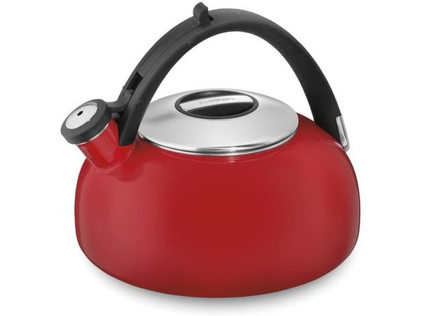 Cuisinart CTK-EOS2R Peak Porcelain Enamel on Steel Tea Kettle, Red - Red
