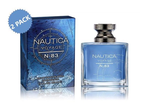Nautica N-83 Voyage Eau de Toilette Cologne for Men 2-Pack