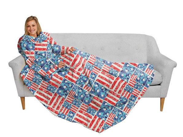 The Slanket | Blanket with Sleeves (Patriotic) - Product Image