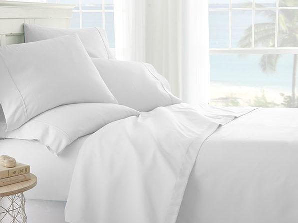 iEnjoy Home White 6-Piece Sheet Set (King)