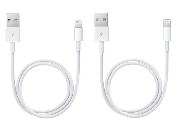 Apple Lightning to USB Cable (2 Pack)