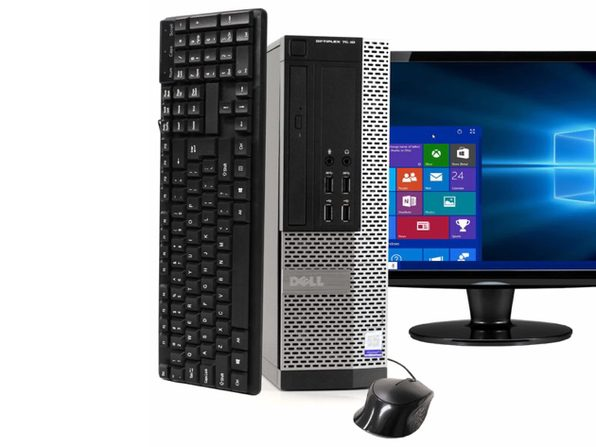 "Dell OptiPlex 7020 Desktop PC, 3.2GHz Intel i5 Dual Core Gen 4, 16GB RAM, 512GB SSD, Windows 10 Home 64 bit, 22"" Screen (Renewed)"