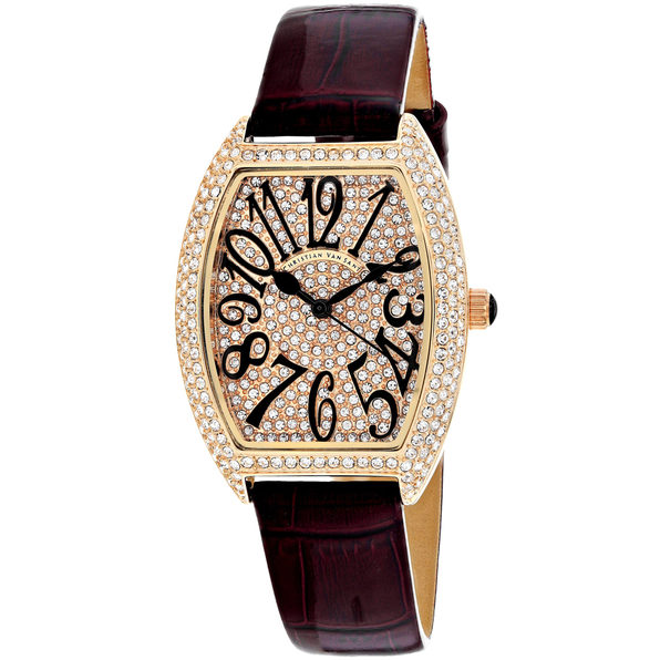 Christian Van Sant Women's Elegant Rose gold Dial Watch - CV4822 - Product Image