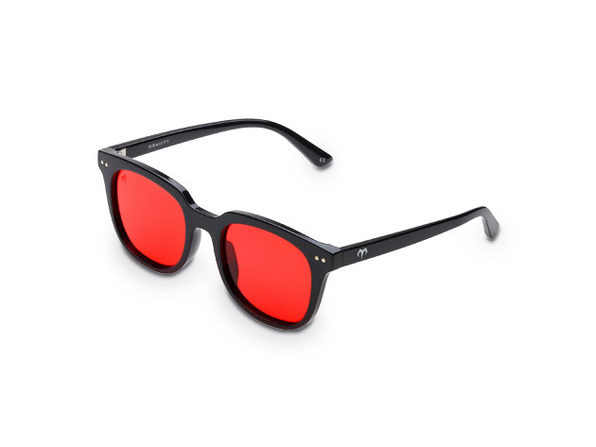 Gravity Polarized Sunglasses (Black/Red)
