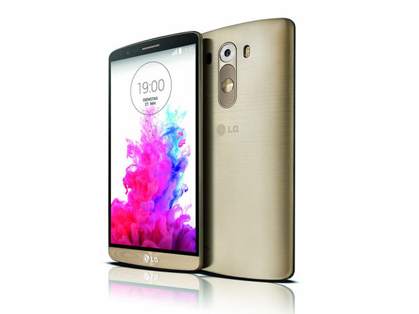 LG G3 + 1 year of Unlimited Talk & Text (Gold) - Product Image