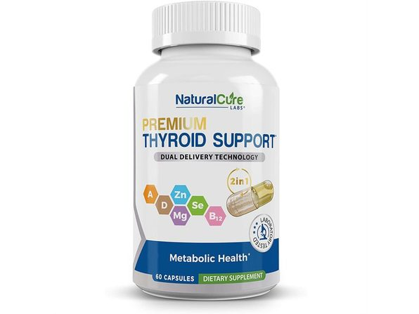 Natural Cure Labs Premium Thyroid Support - Supports Metabolic Health - Gluten Free and NON-GMO, 60 Capsules Dietary Supplement