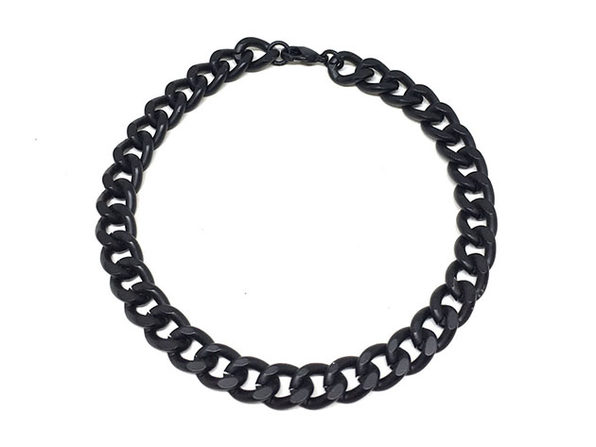 Black Curb Chain Bracelet