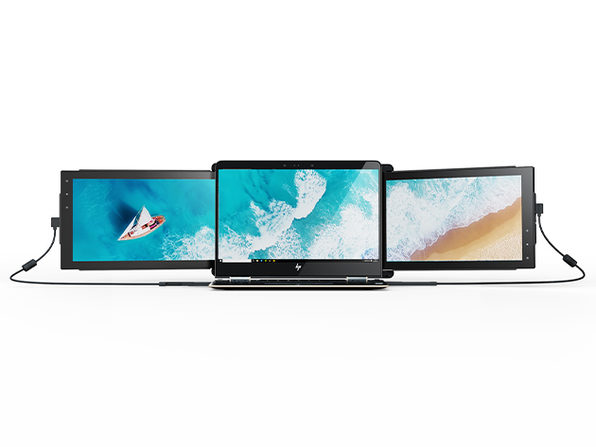 Mobile Pixels TRIO: Portable Triple Screen Laptop Monitor (2 Screens)