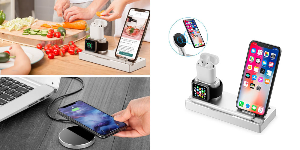 This stylish wireless charging dock is great for shared spaces!