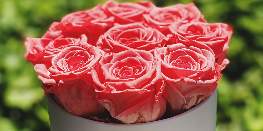 Small Gray Box with Roses, on sale for $139.95