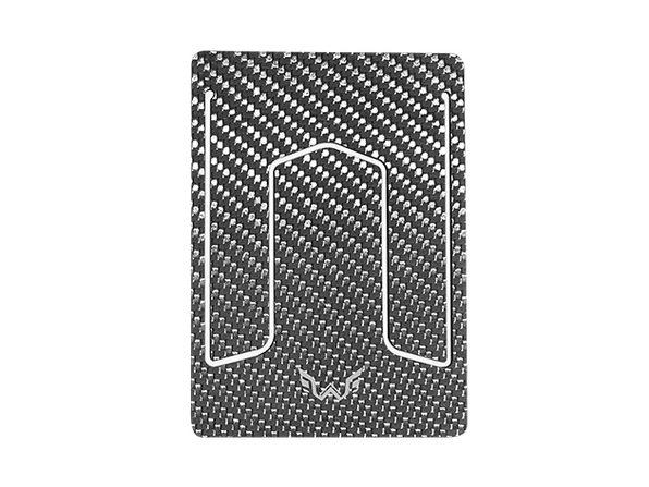 WYN Ultra-Slim Carbon Fiber Wallet (Silver)