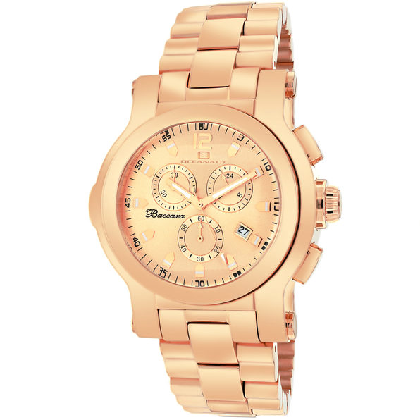 Oceanaut Men's Baccara Rose Gold Dial Dial Watch - OC0722
