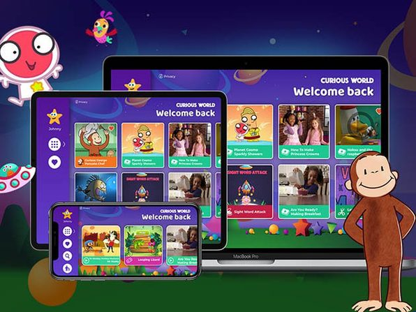 Curious World Language Learning App for Kids: 1-Yr Subscription