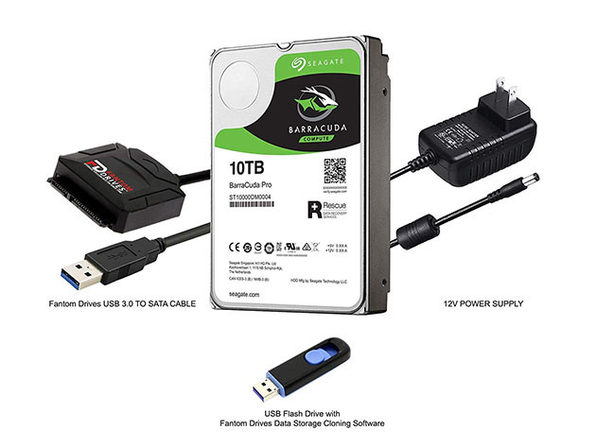 Seagate BarraCuda Pro 10TB Internal HDD Upgrade Kit