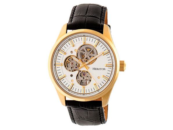 Heritor Automatic Stanley Men's Watch (White/Gold)