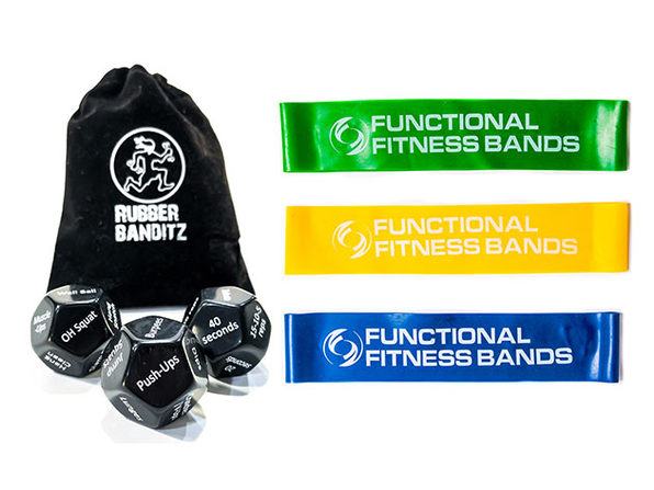 Rubberbanditz Exercise Dice + Fitness Bands