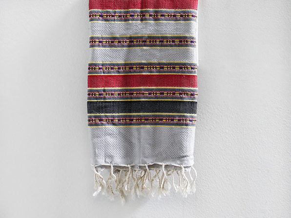 Turkish Fouta Towel (Grey/Red)