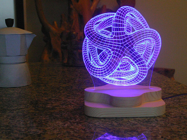 Blue Pine Studio 3d Illusion Lighting Sculpture