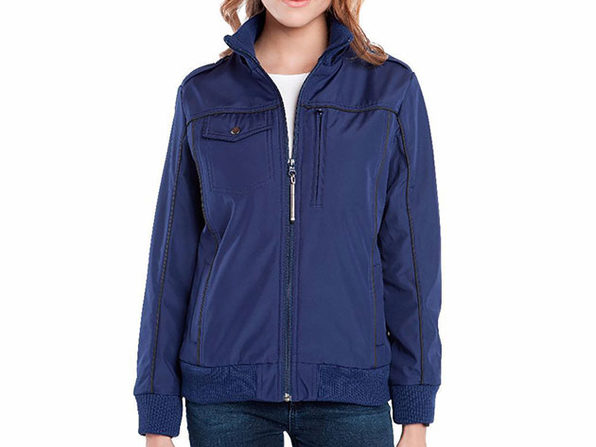 BauBax Women's Bomber Jacket (Blue)