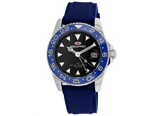 Seapro Men's Black Dial Watch - SP0122BL
