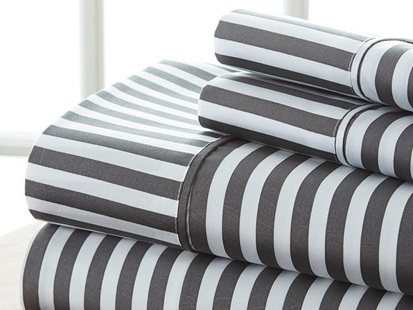 4-Piece Striped Sheet Set (Queen)