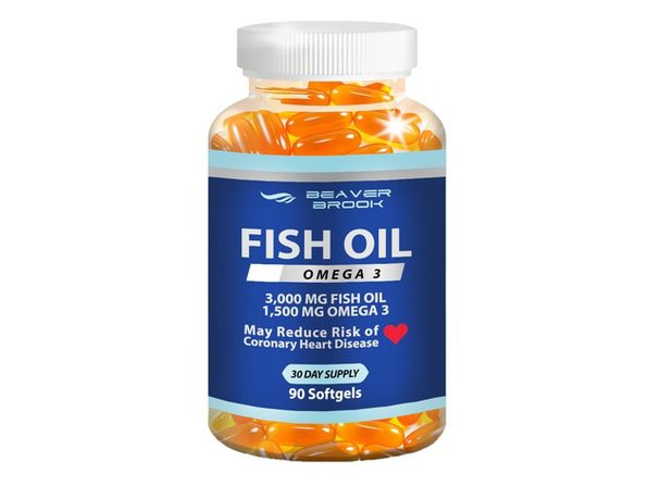 Beaver Brook Fish Oil with Omega 3, Softgels, Dietary Supplement - 90