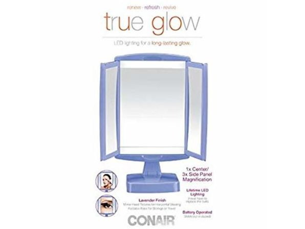 Conair 23683 True Glow LED Makeup Mirror; Lavender - Purple
