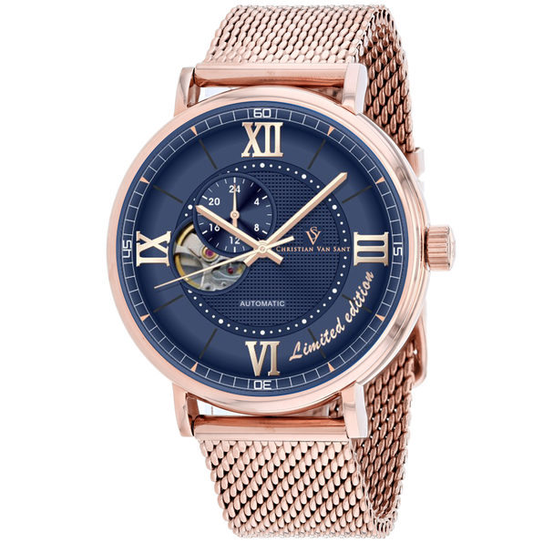Christian Van Sant Men's Somptueuse LTD Blue Dial Watch - CV1147 - Product Image
