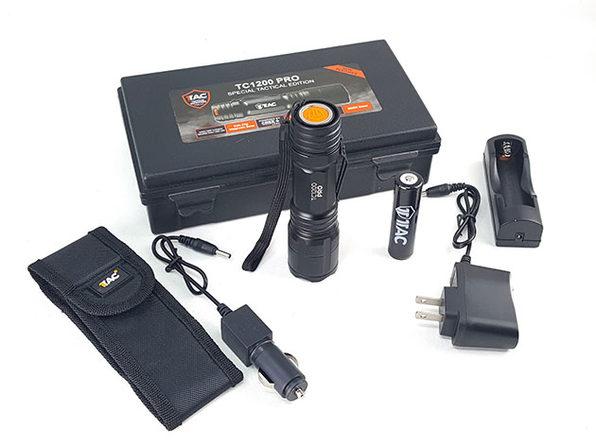 1TAC TC1200 Tactical Flashlight Kit
