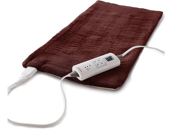 Sunbeam SNXKXV7136U Heating Pad XX-Large, 6 Heat Settings, Auto-Shutoff, Taupe, 14in x 27in - Taupe