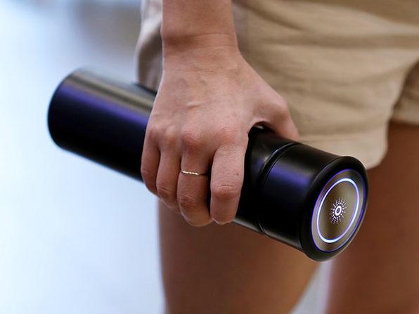 LINK UV Self-Cleaning Water Bottle (16oz/Black)