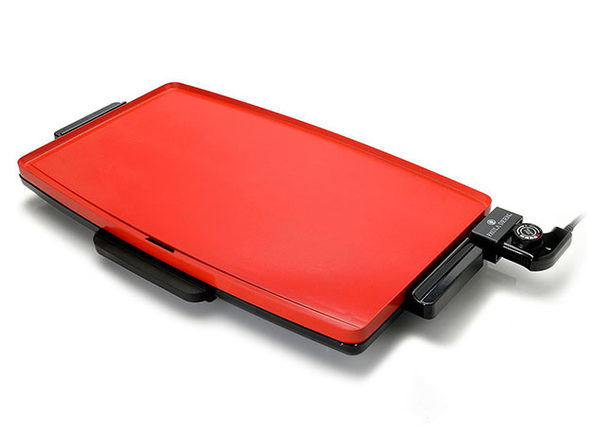 Paula Deen Family-Sized XXL 1500W Non-Stick Griddle (Red)