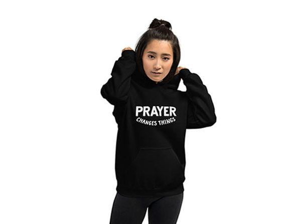 """""""Prayer Changes Things"""" Hoodie (Large)"""