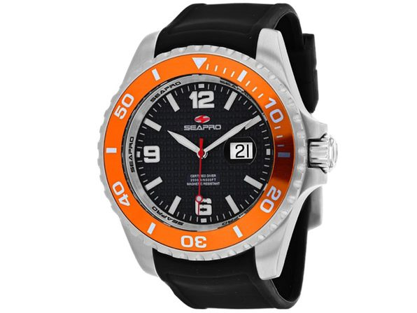 Seapro Men's Abyss 2000M Diver Watch Black Dial Watch - SP0744