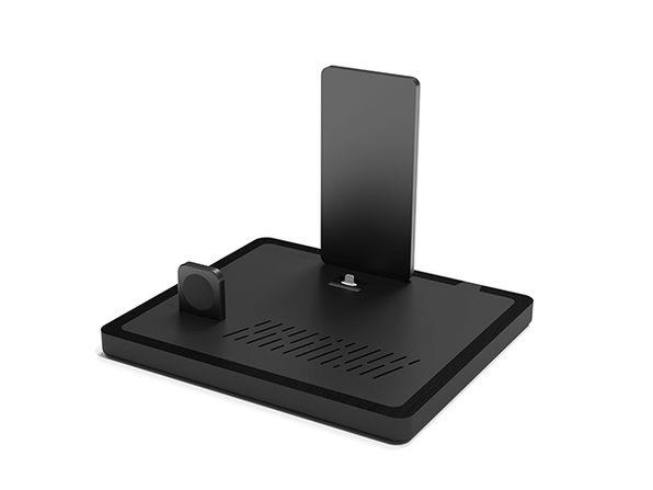 QUAD Wireless Charging Station (Black Top/Black Base/USB-C)