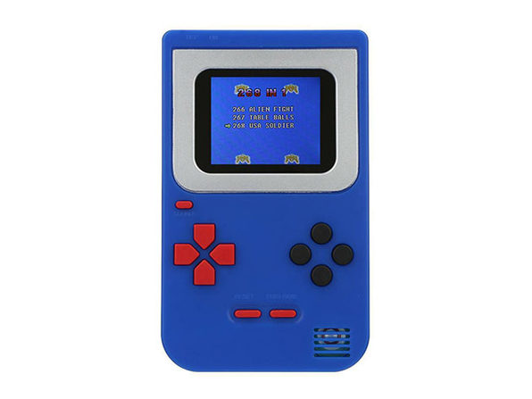 Mini Handheld Game Console 2.0 + 268 Games (Blue)