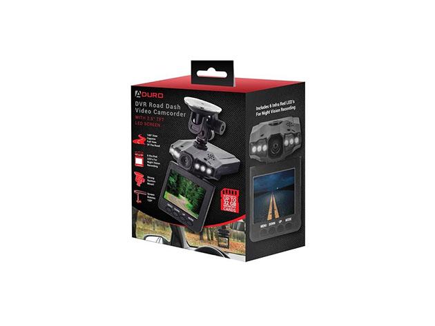 Aduro U-DRIVE DVR Video Audio Dash Cam w// Infrared Night Vision LED/'s New USA