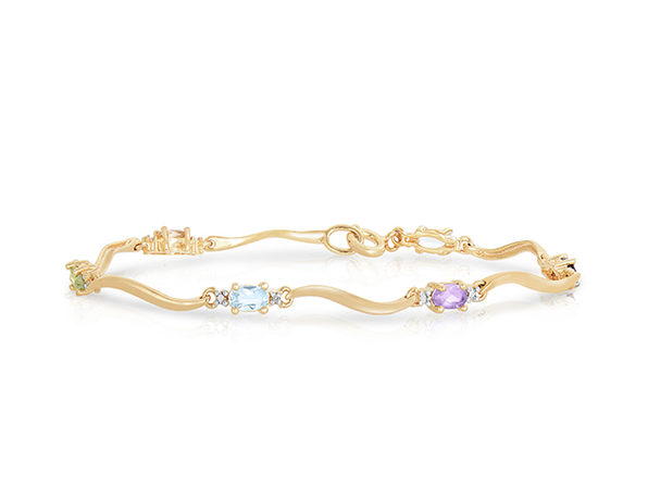 Genevive Sterling Silver Gold-Plated Tennis Bracelet
