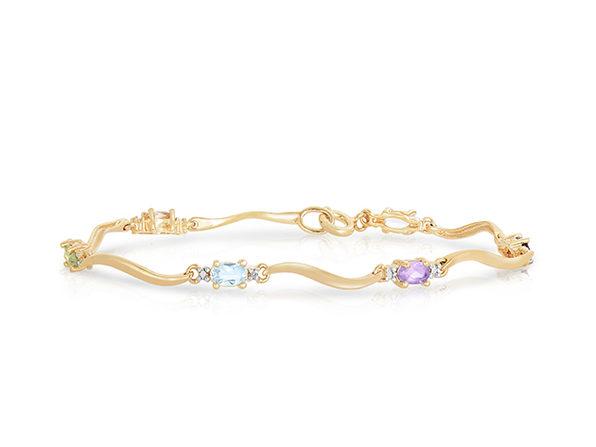 Genevive Sterling Silver Gold-Plated Tennis Bracelet