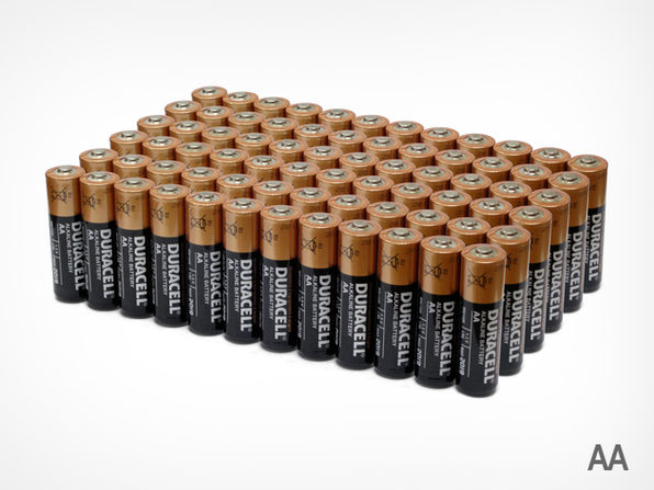 72 AA Duracell Batteries  - Product Image