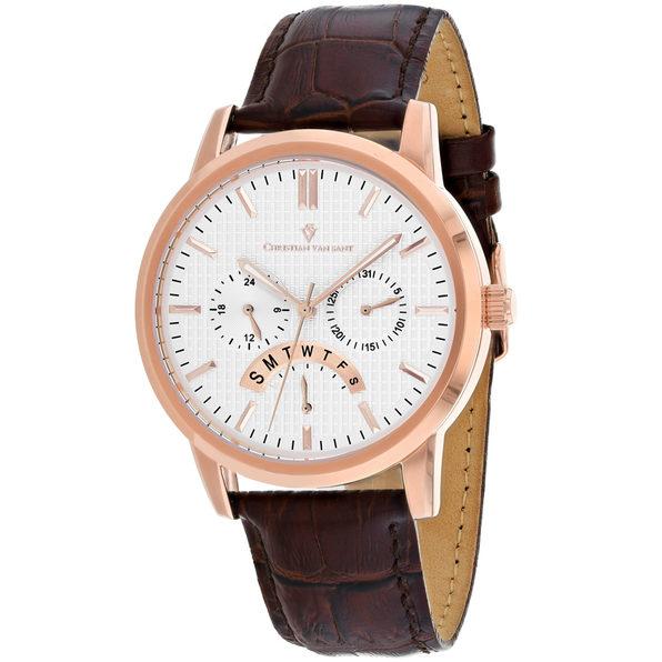 Christian Van Sant Men's Alden Silver Dial Watch - CV0324