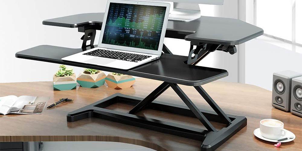 FlexiSpot M7C Desk Riser with Deep Keyboard Tray
