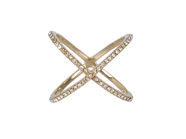 XO Pave Ring in Gold
