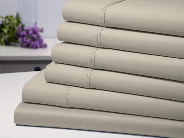 Bamboo Comfort 6-Piece Luxury Sheet Set (Taupe/Queen)