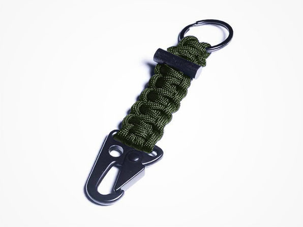 Bomber Carabiner Paracord Keychain (Green)
