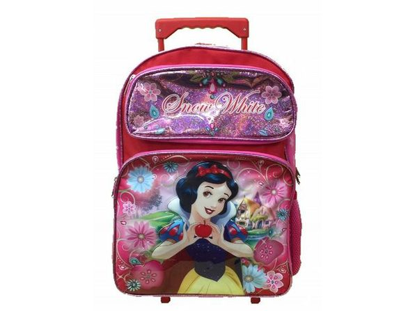 Backpack - Snow White - Large Rolling Backpack - 16 Inches