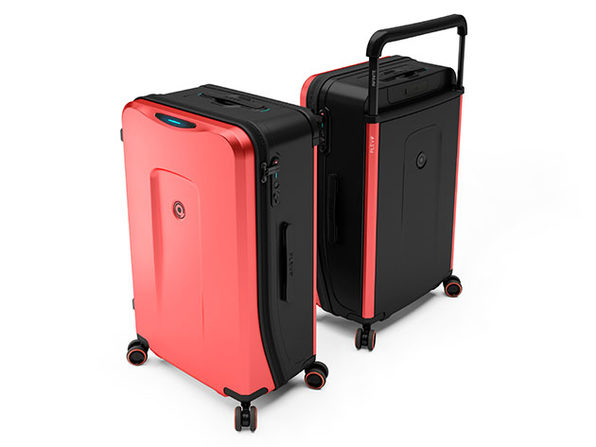 Plevo: The Infinite Smart Expandable Luggage (Red)