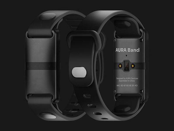 AURA Band Fitness Tracker (Black Device/Black Band)
