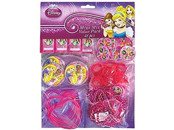 Party Favors - Princess (Sparkle) - Mega Mix Value Pack - 48pc Set