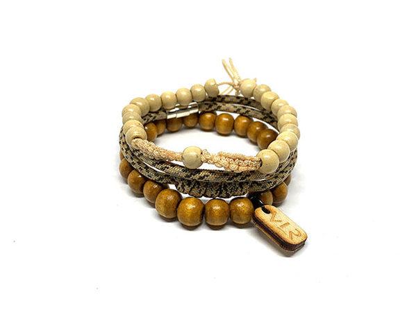 Rosary Bracelets: 3-Pack (Camo/White)